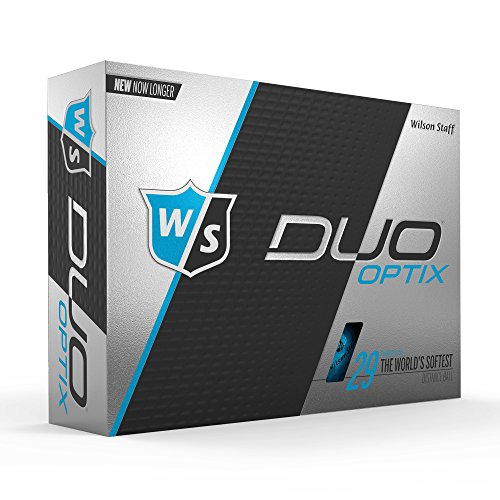 WILSON Staff Duo Soft Optix Golf Bälle, Herren, Staff Duo Optix Golf Balls - Blue, blau, Large