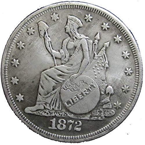 YunBest Morgan Silber-Dollar-Münze zum Sammeln von Silber-Dollar, USA altes Original Pre Morgan Dollar BestShop (Silber Morgan Dollar)