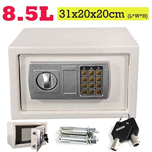 Caja de seguridad electrónica digital de 31 x 20 x 20 cm,...