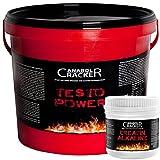 Testo Power, Protein Creatin, 2600g Dose, Frucht Geschmack + 240 Creatin Alkaline Kapseln, Anabol Cracker