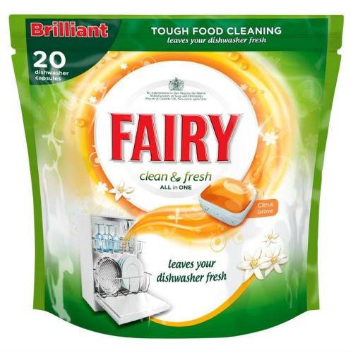 fairy-clean-fresh-lavastoviglie-agrumeto-20-per-confezione-di-6