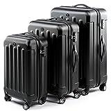 FERGÉ Set 3 valises Voyage Rigide léger Lyon Ensemble de Bagages Trois pc Trolley 4...