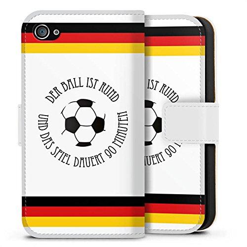 Apple iPhone X Silikon Hülle Case Schutzhülle Fußball Spruch Sport Sideflip Tasche weiß