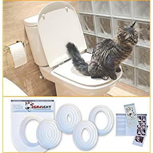 Servicat Erziehungs-Kit. Toiletten Trainingssystem für Katzen in 5 kleinen Schritten.