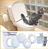 SERVICAT - Kit de Adiestramiento para gatos. Enseña a tu gato a usar el W.C. en 5 pequeños pasos.