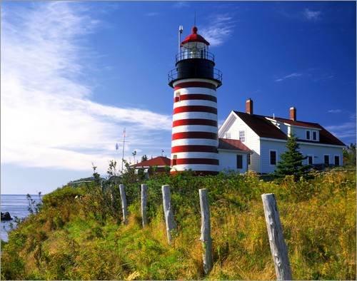 impresion-en-madera-100-x-80-cm-red-white-lighthouse-on-the-mainland-de-steve-terrill-danita-delimon