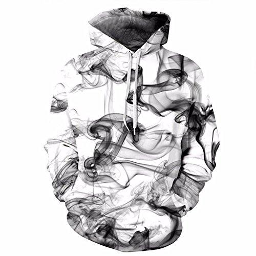 New Fashion Men/Women 3d Sweatshirts Print Watercolor Dreamy Smoke Lines Thin Style Autumn Winter Hooded Hoodies