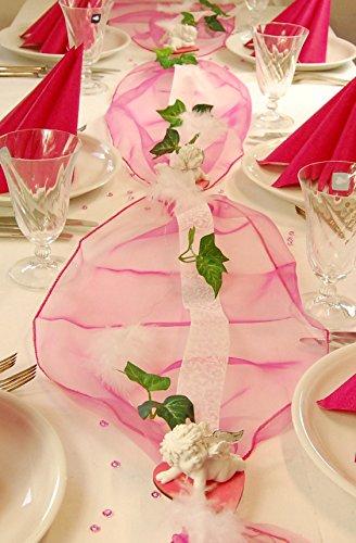 """Fibula [Style] ® Komplettset """"Engelchen Igor"""" pink Tischdekoration für Taufe/Geburt Mädchen für ca. 8 - 10 Personen"""