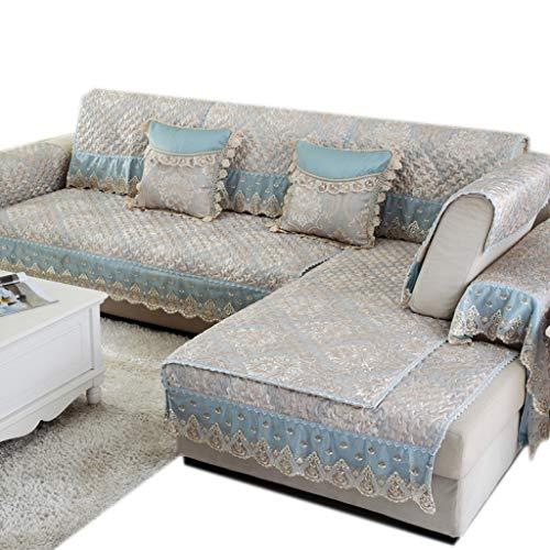 ALYR Multi-Size Sofa Abdeckung, Europäisches Sofa üBerzug Ecksofa Anti-Rutsch-Kombinationssofa wirft Pet Safe & Fleckenbeständig,B_60*150cm