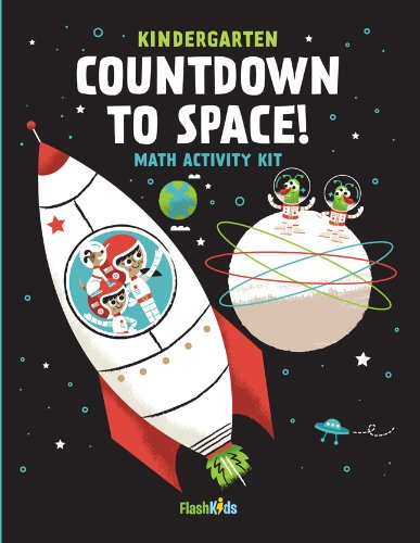 Countdown to Space: Math Activity Kit [With Sticker(s) and 4 Crayons and Fold-Out Mat] -