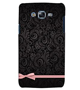 Citydreamz Black Textured Print/Pink Ribbon Hard Polycarbonate Designer Back Case Cover For Samsung Galaxy E5
