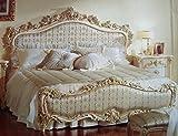 Barock Bett Doppel Bett 180x200 Schlafzimmer Antik Stil Vp7712Q Kopfteil Stoff Nr. 285-01 Ausführung in 01A antik Stil Massivholz. Replizierte Antiquitäten von LouisXV Buche (Ahorn, Mahagoni, Eiche) Antikmessing Beschläge, furniert, in