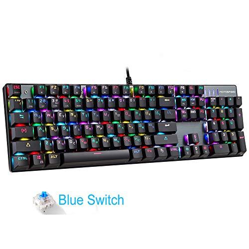 ALRY Juego Teclado mecánico RGB Rojo Azul Interruptor