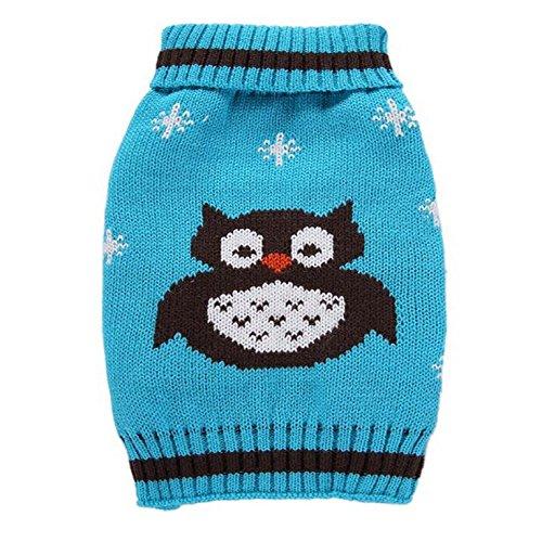 ng Eule Stil warme Strickpullover Weihnachten Neujahr Weihnachten Pullover f¨¹r kleine Hunde (Hund, Eule Kostüm)