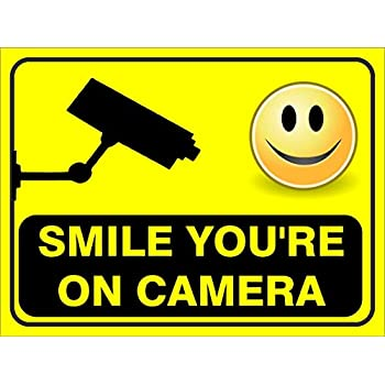 image about Smile You Re on Camera Sign Printable identify R PRINT Oneself are Beneath CCTV Surveillance, Hindi English 2