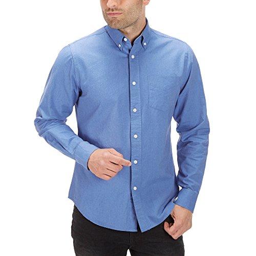 Charles Wilson langärmliges Oxford Freizeithemd (XX-Large, Tiefblau)