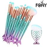 Hunpta 11PCS Make Up Foundation Eyebrow Eyeliner Blush Cosmetic Concealer Brushes (Multicolor) - Best Reviews Guide