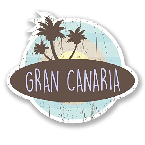Preisvergleich Produktbild 2 x 20cm/200mm Gran Canaria Kanarische Inseln Vinyl SELBSTKLEBENDE STICKER Aufkleber Laptop reisen Gepäckwagen iPad Zeichen Spaß #6768