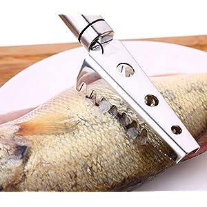 Gmeroon descamador Pesce coltelli per pesce, el acciaio inox 304), attrezzi di pulizia pelle di pesce, attrezzi per la cucina