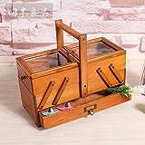 SSBY Creative versatili in legno scatola di storage solido legno cassetto portaoggetti Scatola da cucito home medicina torace