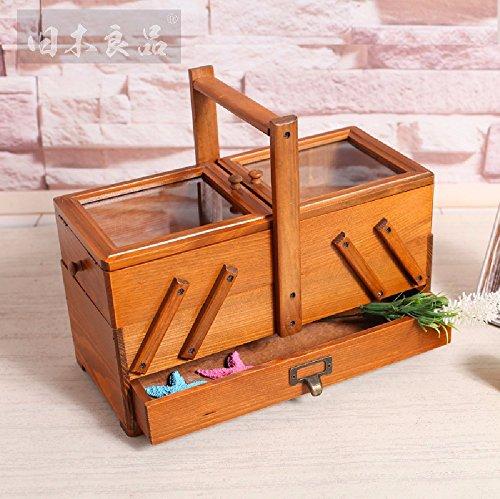 SSBY Creative versatili in legno scatola di storage solido legno