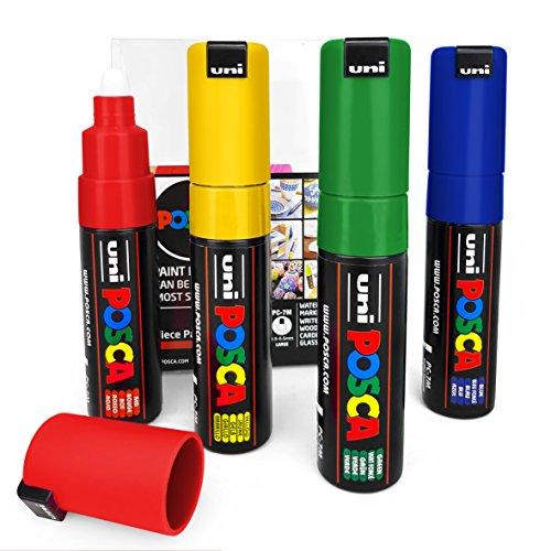 -Filzstifte, Marker, 4 Stück,mit Kunststoffetui, Grundfarben ()
