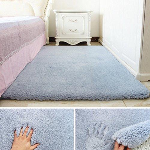 Bath Time Flagship Store LUYIASI- Einfache Moderne rechteckige Lamm Wohnzimmer Couchtisch Schlafzimmer Teppich Non-Slip Mat (Farbe : Blau, größe : 200x300cm) -