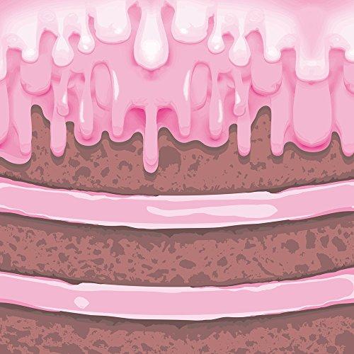 Apple iPhone 8 Bumper Hülle Bumper Case Glitzer Hülle Kuchen Torte Cake Bumper Case transparent pink
