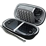 for Sony Playstation Vita 1000/2000 PSV PS PSVITA Slim Console Black EVA Hard Storage Travel Carry Case Bag with Game Card Slots by co2CREA