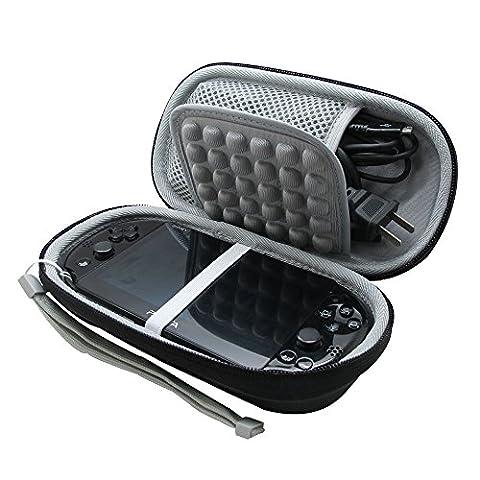 co2UK Noir Carry EVA Voyage Cas Sac Couverture Pour Sony PS Vita 2000/1000 Memory Card