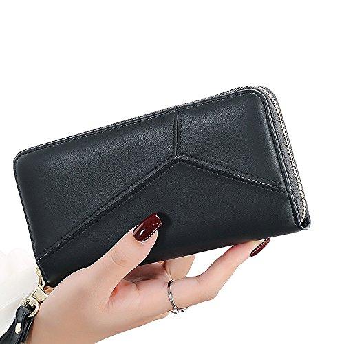 woolala-womens-splice-pu-leather-long-wallet-accodion-folded-large-capacity-purse-black