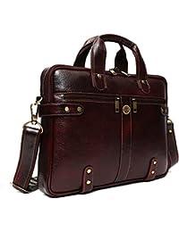 Hammonds Flycatcher Malgudi Leather 20 Ltr Brown Laptop Briefcase