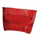 D DOLITY Damen Bauchtanz BH Tops Pailletten Kostüme Bauchtanz Tops Bra Ausgezeichnete Elastic 5 Farbe - rot