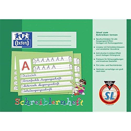 Oxford 100050089 Schreiblernheft, A4 quer, SL, 16 Blatt, abwischbarer Deckel