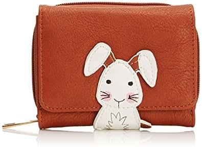 SWANKYSWANS Womens Fischer Animal Snap Purse Rupert Rabbit Wallet ASW Tan