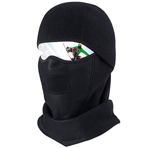 HASAGEI Balaclava Ski Maske Sturmhaube Herren Fahrrad Maske Sturmhaube Motorrad Winter Fleece Atmungsaktiv Thermal (Thermal-taktische)