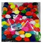 #8: Shop Buzz Pack of 50 Multi Coloured Pom Poms of 2cm (Diameter) For Arts & Crafts, Scrapbooking,decorations,jewellery making,accessories,bags (Assorted Colours)
