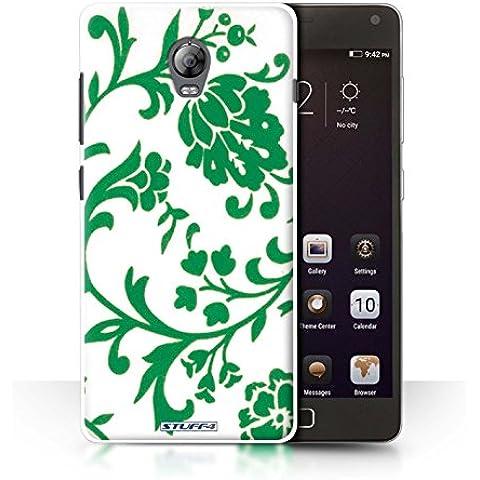 STUFF4 teléfono/cubierta/piel/Caso LNVVP1/Floral sello de recogida verde flores