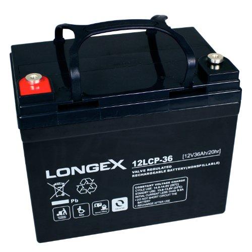 Preisvergleich Produktbild Longex 12LCP-36 / 12V - 36Ah Blei Akku Zyklentyp AGM - Deep Cycle