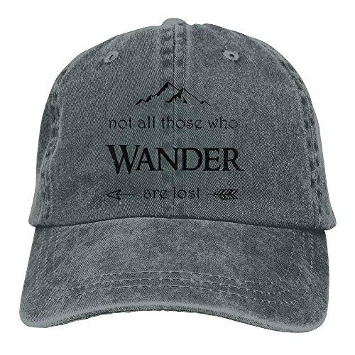 jinhua19 Hüte,Kappen Mützen Baseball Jeans Cap Not All Who Wander Are Lost Unisex Baseball Cap Adjustable Baseball Hat