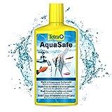 TETRA AquaSafe - Conditionneur d'Eau Naturel pour Poissons Tropicaux -Agit en 5 mn - Eau Douce et Eau de Mer - Anti-Chlore- 500ml