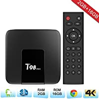 Zenoplige T98PRO Android TV BOX Android 7.1 Marshmallow 2G 16G 4K H.265 64BIT DLNA Wifi LAN Smart TV BOX