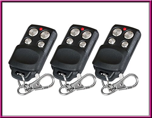 3 X Kompatibel mit 84330E(EML), 84333E(EML), 843334E(EML), 84335E(EML)-old, 84330EML, 84330E, 84333EML, 84333E, 84335EML, 84335E Kompatibel Handsender, Remote Control Compatible Transmitter Replacement, keyfob - Liftmaster Garage Door Remote