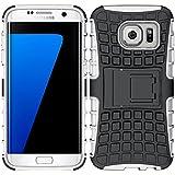 ebestStar - pour Samsung Galaxy S7 edge SM-G935F G935 - Etui Housse Coque COMBO Duo Armor Support, Couleur Noir / Blanc [Dimensions PRECISES de votre appareil : 150.9 x 72.6 x 7.7 mm, écran 5.5'']