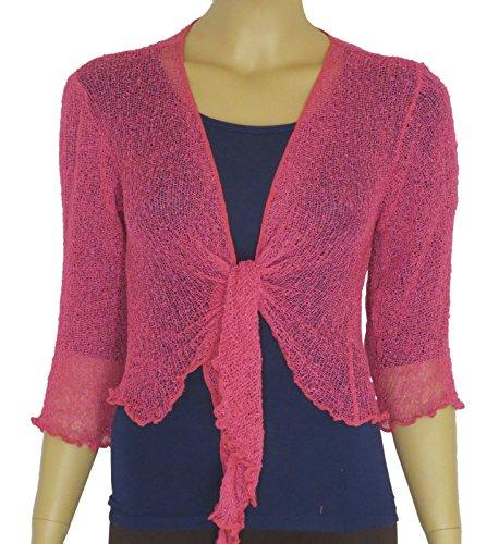 Taboo fashion clothing Damen Bolero One size Himbeere