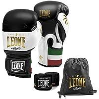 Leone 1947 - Juego de guantes de boxeo, bolsa y vendaje. 70 aniversario, color negro