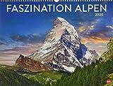 Faszination Alpen. Wandkalender 2020. Monatskalendarium. Spiralbindung. Format 44 x 34 cm
