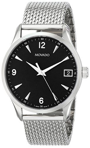 MOVADO 0606802 GENTS 42MM SILVER STEEL BRACELET & CASE DATE SAPPHIRE GLASS WATCH