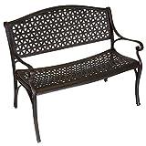 Gartenbank VENEZIA 2-Sitzer, wetterfester Aluguss, Farbton: bronze-antik