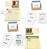 Multiplikationsbrett u. Divisionsbrett mit 200 Arbeitskarten, Montessori-Material inkl. Selbstkontrolle